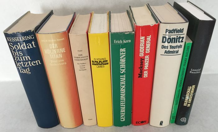 Biographical; Lot with 9 books about German army commanders between WW I and WW II - 1953/1997