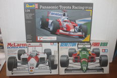 Tamiya/Revell - Scale 1/20-1/24 - Lot of 3 vintage Formula 1 kits: Benetton, McLaren & Toyota