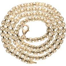 14 kt yellow gold Byzantine link necklace – Length: 50 cm
