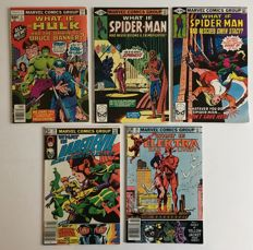Collection Of Marvel Comics - What If.....? Vol 1 - Issues #2, #19, #24, #28 & #35 - 1st Print - 5x SC - (1977/1982)