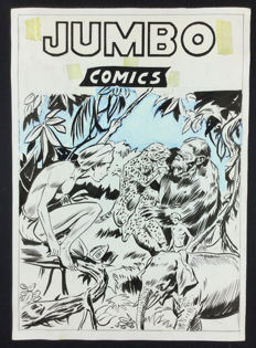 "Fantoni, Mario - original cover for Jumbo Comics ""Wambi"""