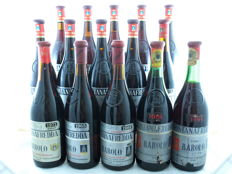 Vertical collection of Barolo Fontanafredda - 15 bottles