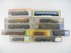 Arnold/Fleischmann/Roco/ and others N - 006751/3301/13310 - 11 x various wagons of different railway companies [564]
