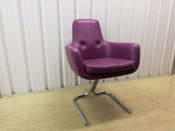 Charmant Manufacturer Unknown   Funky Purple Armchair