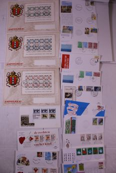 The Netherlands 1953/2009 - Batch of over 5000 FDCs in moving box.