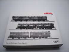 Märklin H0 - 42041 - 6x compartment coach set (3x close coupled pairs) of the KPEV, Epoche I