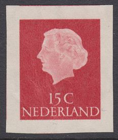 The Netherlands 1953 - Juliana in profile - NVPH 619 imperforated, with expert's certificate.