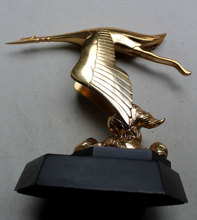 Franklin Mint 1987 Radiator Mascot Hispano Suiza 24 K Gold