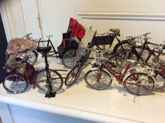 Collection of 13 miniature bikes