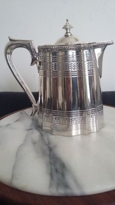 James dixon&sons sheffield silver plated coffee pot decoration circa 1900 made in england.