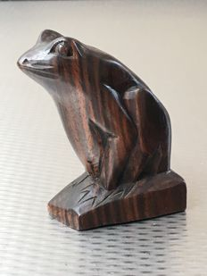 Designer unknown - Art Deco coromandel wooden frog