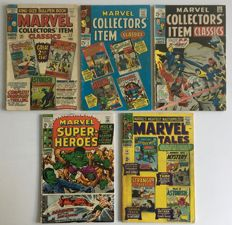 Marvel Collectors Item Classics - Issues #2, #6, & #20 + Marvel Super-Heroes #27 & Marvel Tales #4- 1st Print - 5x SC - (1966/1970)