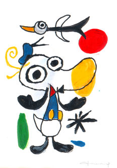 Fernandez, Tony - Original Mixed Media - Donald Duck inspired by Joan Miró