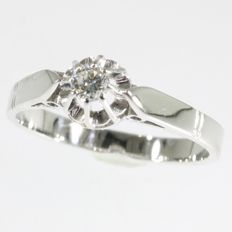 Diamond engagement ring - ca. 1950