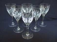 6 wine glasses model Chantilly - signed