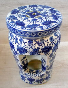 Chinese porcelain ottoman, cutaway - China - late 20th century