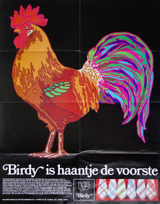 "Anonymous - ""Birdy is haantje de voorste"" (household textiles) - circa 1975"