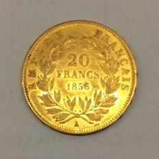 France - 20 Francs 1856 A (Paris) - or