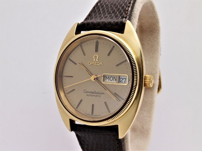 e5c2dca0229 vintage omega constellation 14k ss wrist watch men perfect - Catawiki