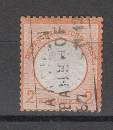 German Empire - 1872 - series breastplate - 2 Kreuzer cancelled - Michel no. 24