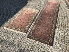2 HAND MADE INDO-KESHAN RUG 165x90cm and 324x80cm look's like cashmir