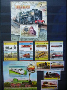 Theme trains - collection in stock book