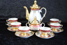 Bavaria mocha coffee set with a lot of gold