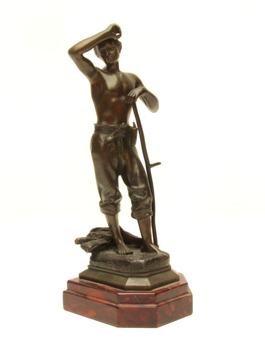 Jullien Caussé (1869-1914) - bronze sculpture 'Le Travail' - France - approx. 1900