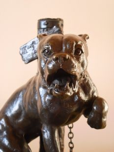 Charles Valton (1851-1918) - bronze sculpture ' Keep out of the way' - late 19th century