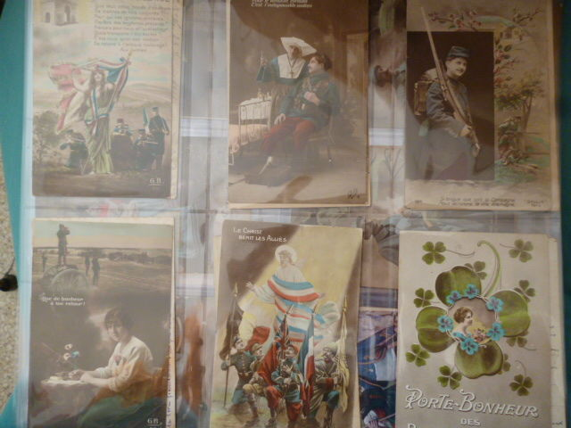 Lot of 72x French postcards of the early 20th century