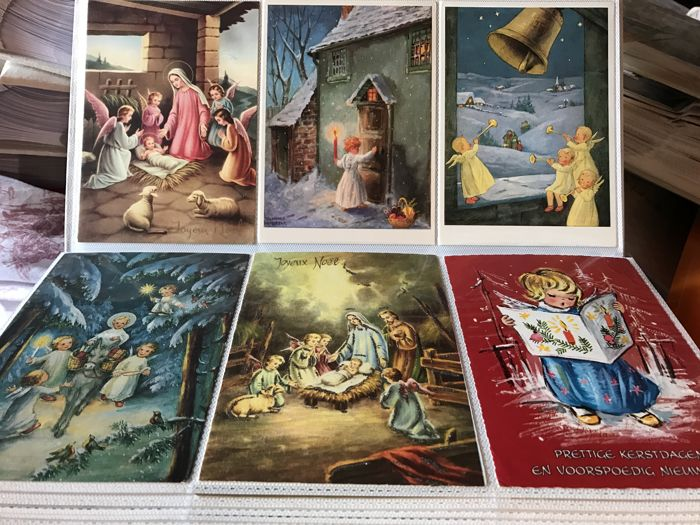Album with 300 thematic postcards: Christmas