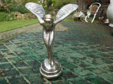 Car radiator mascot - Emily - silver-plated bronze - ca. 1980