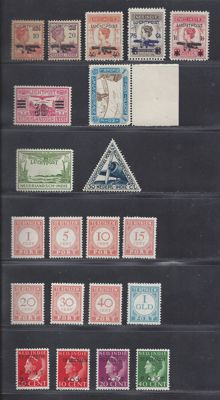Dutch East Indies 1928/1932 – Selection Air mail and Postage due