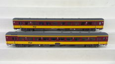 LS Models H0 - 44 061-1/44 061-2 - BeNeLux carriages 1st class and 2nd class of the NS and the NMBS