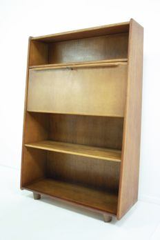 Cees Braakman for Pastoe- oak series, secretaire wall unit