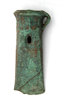 Bronze Socketed Axe Head with a Green Patina - 115 mm