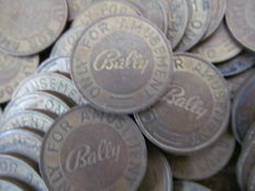 Old copper coins for fair machines - 2nd half of the 20th century