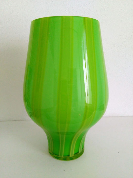 Paola Lenti Vintage Green Glass Vase With Original Label Catawiki