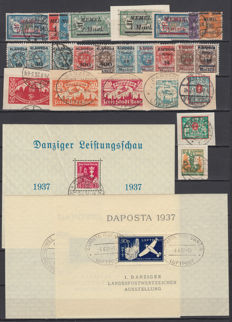 Memel, Danzig 1921/1927 - Lot of stamps and sheets block