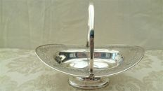 Silver plate dish for cookies or chocolates, Atkin Brothers, Sheffield, England.