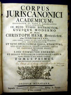 Christoph Heinrich - Corpus juris canonici - 2 volumes in 1 binding - 1783