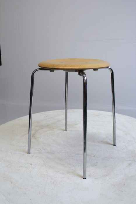 Arne Jacobsen For Fritz Hansen The Dot Stool Model 3170