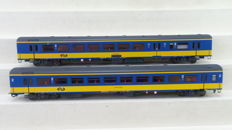 LS Models H0 - 44 072-1/44 072-2 - ICR carriages BKD and 2nd class of the NS