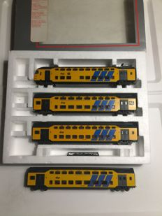 Lima H0 - 149723K - Control carriage and 3 carriages of the Nederlandse Spoorwegen mDDM