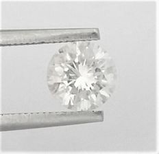Diamond of  1.24 carat , E color , SI2 clarity , Big AIG certificate + Laser Inscription on Girdle