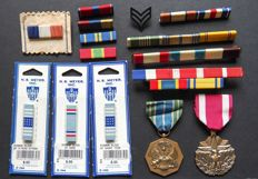 US army - medals and batons - different eras