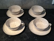 't Kruikje - Franz of Marguerite Wildenhain Friedlander- 4 cups and saucers