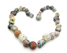 "Ancient ""Millefiori"" Mosaic glass beaded necklace - 300 mm"