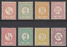 The Netherlands 1876/1894 - Printed matter stamps (old and new print) - NVPH 30/33 + 30b/33a