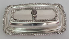 Fine Quality Silver Plated Butter Dish - E H Parkin & Co c. 1930